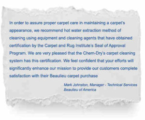 Hot water extraction cleaning method impresses Sunshine Coast leading carpet manufacturers - image