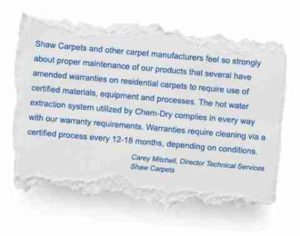 Hinterland industry leaders recommend the hot carbonating extraction process by trusted carpet cleaners - image