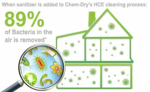 Sunshine Coast carpet and upholstery experts remove bacteria by adding sanitiser to the cleaning process - image